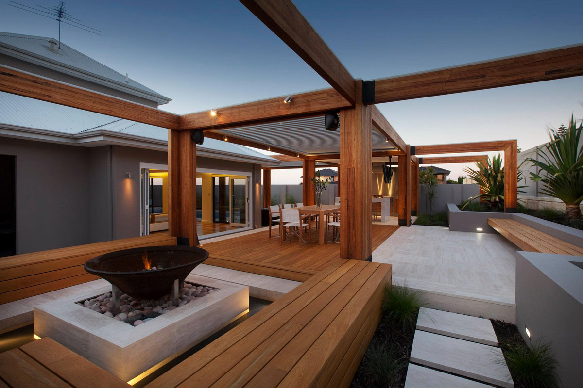 Landscaping design construction melbourne berwick glen for External timber decking