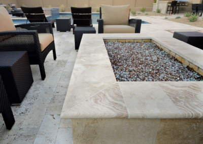 Travertine bullnose pavers