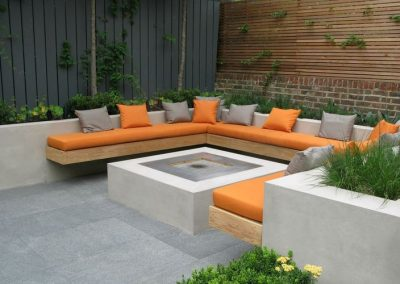 One of our modern looking designs for an outdoor entertainment area in Richmond