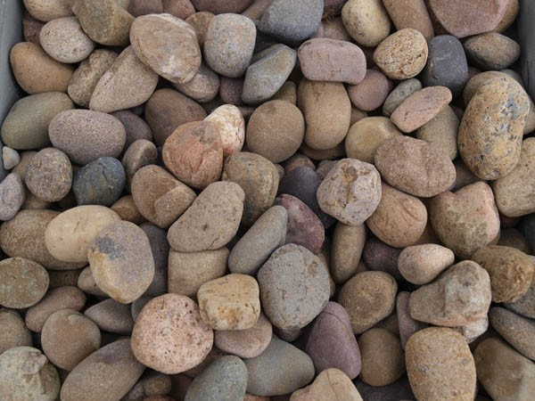 Garden bed pebbles and stones
