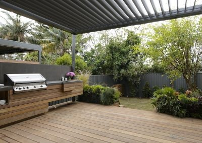 Natural timber decking