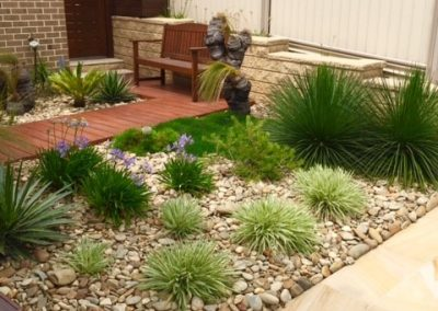 Pebbles utilised for garden mulch