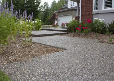 Exposed aggregate driveway and pathways