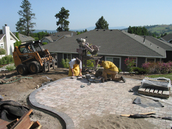 Paving preparation in progress