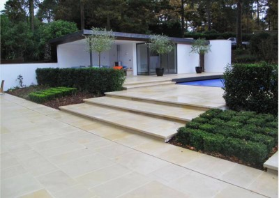 Honed Sandstone outdoor tiles
