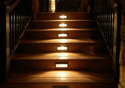 Outdoor lighting of steps, decking, garden pathways and feature plants