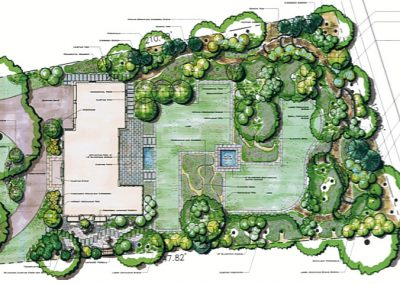Landscape Design plan including plants