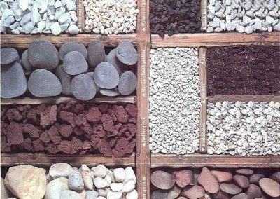 Pebbles for garden beds