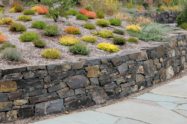 Stone Cladding Retaining Wall