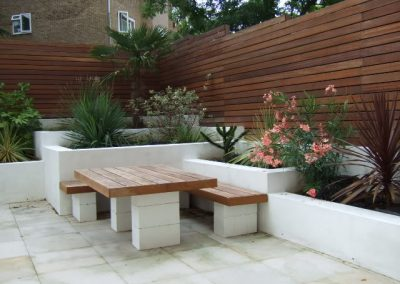 Small area landscape design and construction in South Yarra
