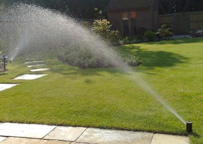 Large directional pop up sprinklers