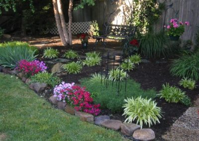 Organic black pine bark garden mulch