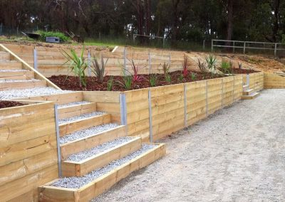 Timber sleeper retaining walls