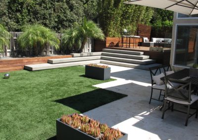 Contemporary landscaping design in Kew