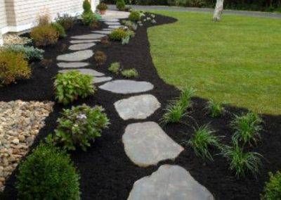 Garden mulch and stepping stones