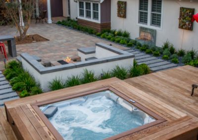 Natural timber decking untreated