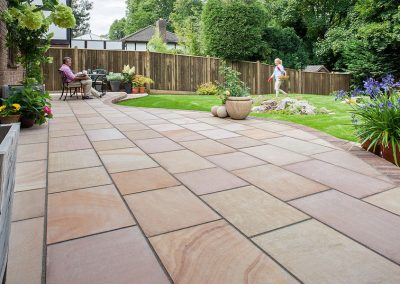 Non slip natural stone paving